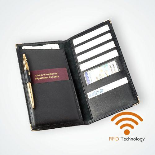 Porte Cartes Passeport protection Stop RFID anti NFC