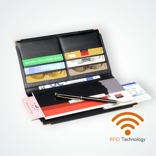 Porte chéquier Protection Stop RFID anti NFC