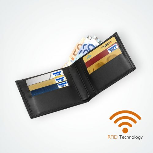 Porte-feuille Protection Stop RFID anti NFC - 6 cartes Maroquinerie