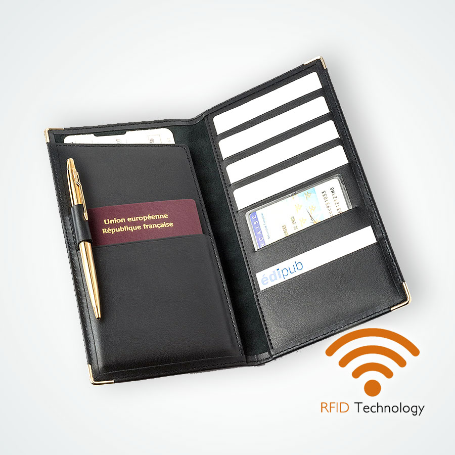Porte Cartes Passeport protection Stop RFID anti NFC