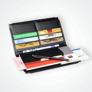 Porte chéquier 6 cartes