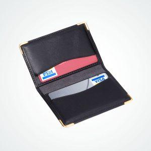 Porte carte bancaire coins dorés